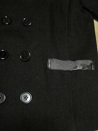 コートのポケット口布取替