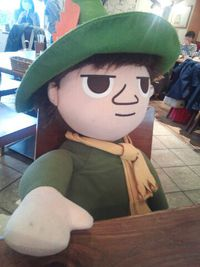 ムーミンカフェで無料のシルエットラテを飲みました!