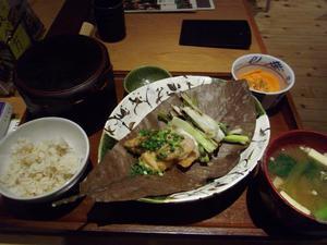 「 長野県長寿食堂 」の「 朴葉焼き定食 」