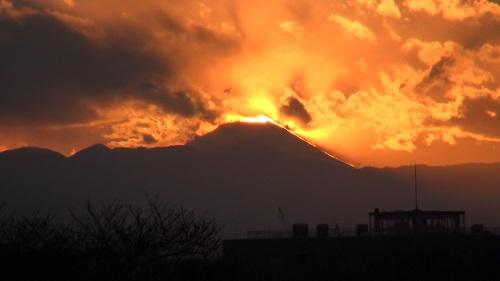 2月9日のダイヤモンド富士
