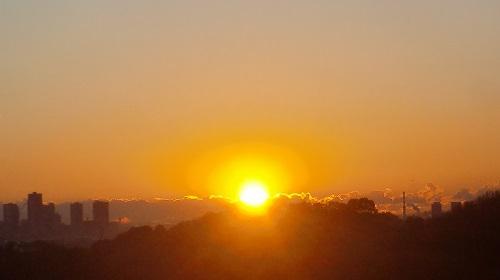 展望台から見た朝日