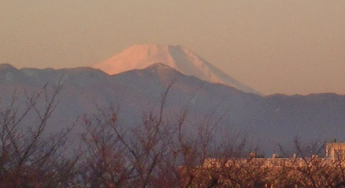 展望台からみた富士山