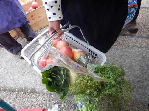 新鮮野菜が山盛り