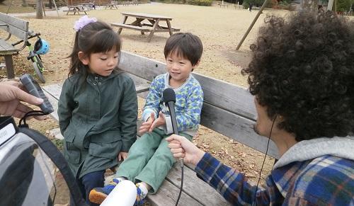 4歳コンビにインタビュー開始
