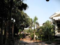 インド料理レストランの中庭