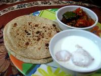 北インドの朝食