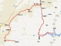 山梨県と神奈川県の県境の山、甲相国境尾根