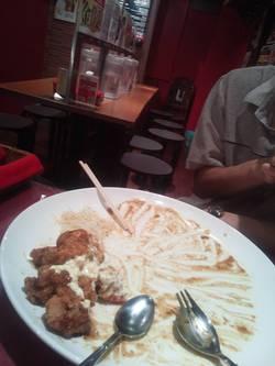 2人で食べた後