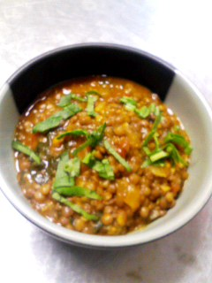 ブラックマスル豆のカレー