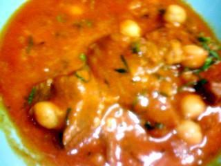 ひよこ豆とチキンのカレー