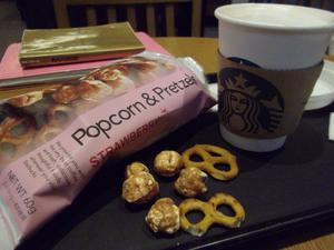 スタバ Popcorn & Pretzels